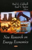 New Research on Energy Economics Book