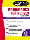 Pdf Schaum's Outline of Mathematics for Nurses Telecharger