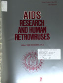 AIDS Research and Human Retroviruses Book