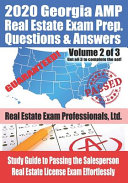 2020 Georgia AMP Real Estate Exam Prep Questions and Answers