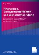Finanzkrise, Managementpflichten und Wirtschaftsprüfung