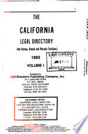 The California legal directory : with Arizona, Hawaii, and Nevada sections