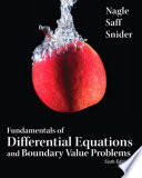 Fundamentals of Differential Equations w/BVP
