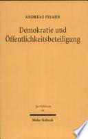 Demokratie und Öffentlichkeitsbeteiligung