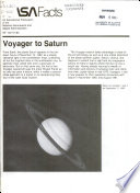 Voyager to Saturn