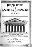 The Magazine of American Genealogy