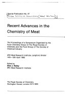 Recent Advances in the Chemistry of Meat