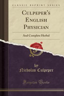 Culpeper's English Physician