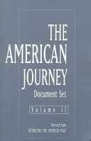 The American Journey Derived From Retrieving The American Past Book PDF