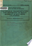 The Source Transportation And Deposition Of Beach Sediment In Southern California