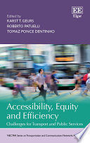 Accessibility Equity And Efficiency Book PDF