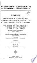 Interlocking Subversion In Government Departments