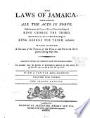 The Laws of Jamaica  1792 1799