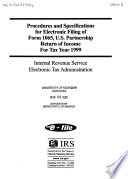 Procedures for Electronic and Magnetic Media Filing of U S  Income Tax Returns for Estates and Trusts  Form 1041