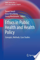 Ethics In Public Health And Health Policy Book PDF