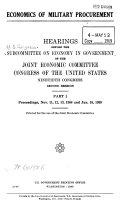 Economics of Military Procurement