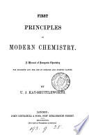 First principles of modern chemistry  a manual of inorganic chemistry Book PDF