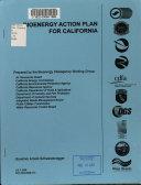 Bioenergy Action Plan for California Book
