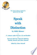 Speak with Distinction, The Classic Skinner Method to Speech for the Stage by Edith Skinner PDF