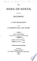 The Song of Songs, which is by Solomon