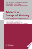 Advances in Conceptual Modeling. Recent Developments and New Directions