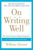 On Writing Well, 30th Anniversary Edition Pdf/ePub eBook