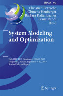Pdf System Modeling and Optimization