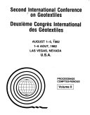 Second International Conference On Geotextiles August 1 6 1982 Las Vegas Nevada U S A