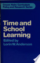 Time and School Learning Book