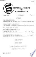 Historical Journal of Massachusetts  , Bände 23-24