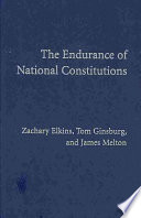 The Endurance of National Constitutions Book