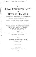The Real Property Law of the State of New York