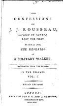 The Confessions of J.J. Rousseau, Citizen of Geneva