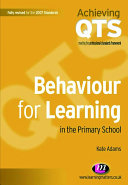 Behaviour for Learning in the Primary School Pdf/ePub eBook