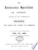 The Insurance spectator of London  afterw   The Citizen