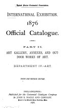 Art gallery, annexes, and outdoor works of art. Department IV. Art