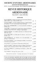 Revue historique ardennaise
