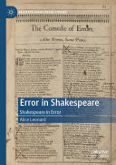Error in Shakespeare