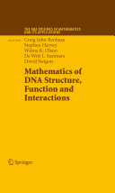 Pdf Mathematics of DNA Structure, Function and Interactions
