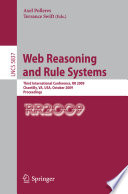 Web Reasoning and Rule Systems Book