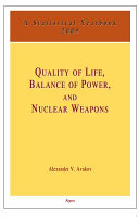 Quality of Life, Balance of Power and Nuclear Weapons, 2009 Pdf/ePub eBook