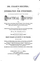 Dr  Chase s Recipes  Or  Information for Everybody Book