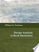 Design Analysis in Rock Mechanics Book