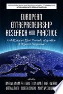 European Entrepreneurship Research and Practice
