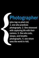 Photographer  pho tog ra pher   n  Book PDF