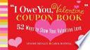 I Owe You  Valentine  Coupon Book