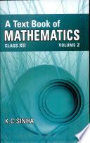A Text Book Of Mathematics Xii Vol 2