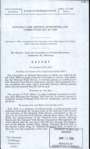 National Park Service Authorities and Corrections Act of 2009, December 7, 2009, 111-1 House Report 111-360, Part 1