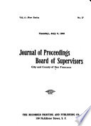 Journal Of Proceedings Board Of Supervisors City And County Of San Francisco