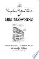 The Complete Poetical Works of Elizabeth Barrett Browning